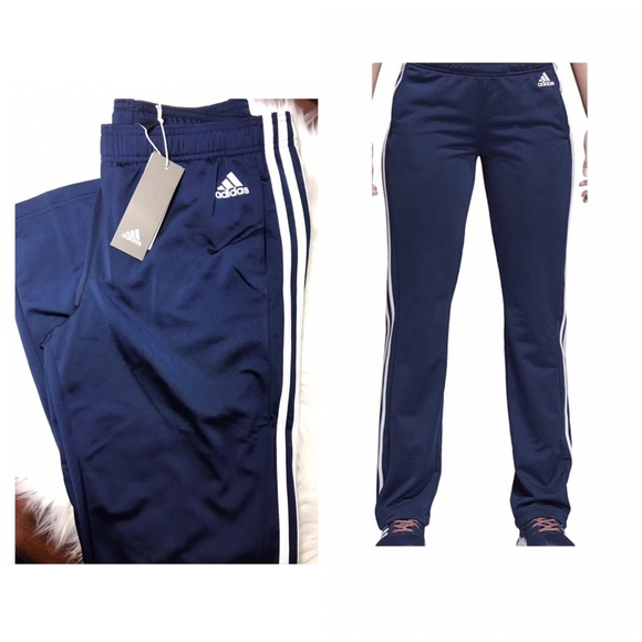 a801ec3c6 adidas Pants | Womens Navy Blue And White Straight | Poshmark